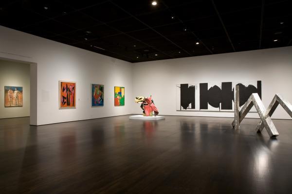 Modern art galleries featuring post-war art at LACMA