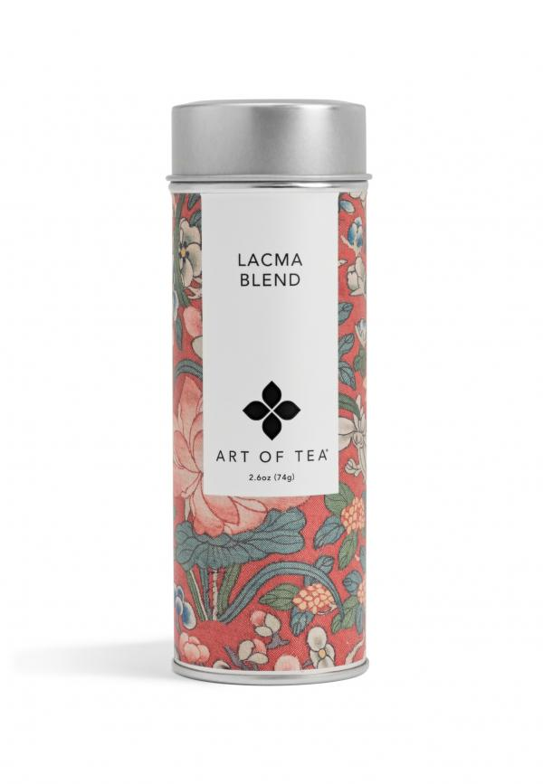Art of Tea's LACMA Blend, photo © Museum Associates/LACMA. The illustrated Chinese textile label from LACMA's collection celebrates natural bounty.