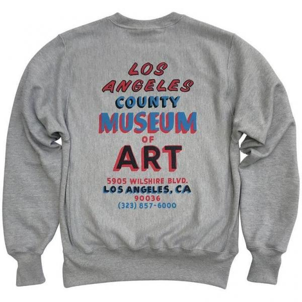 LACMA Hand Painted Sign Champion Reverse Weave Sweatshirt, photo © Museum Associates/LACMA