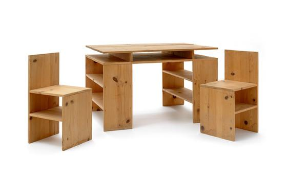 Together Again Donald Judd Prototype Desk and ChairsUnframed