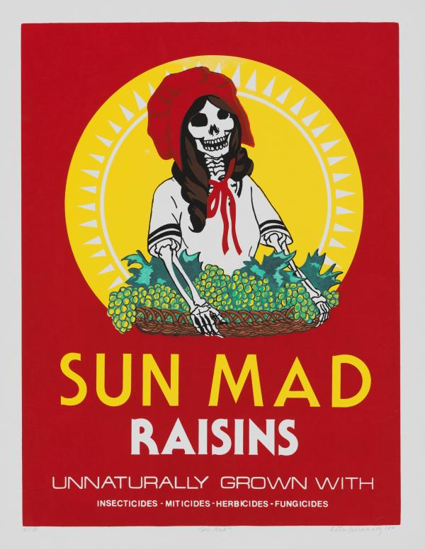 Ester Hernández, Sun Mad, 1982Reading LACMA Objects as Artifacts of Essential Agricultural Work