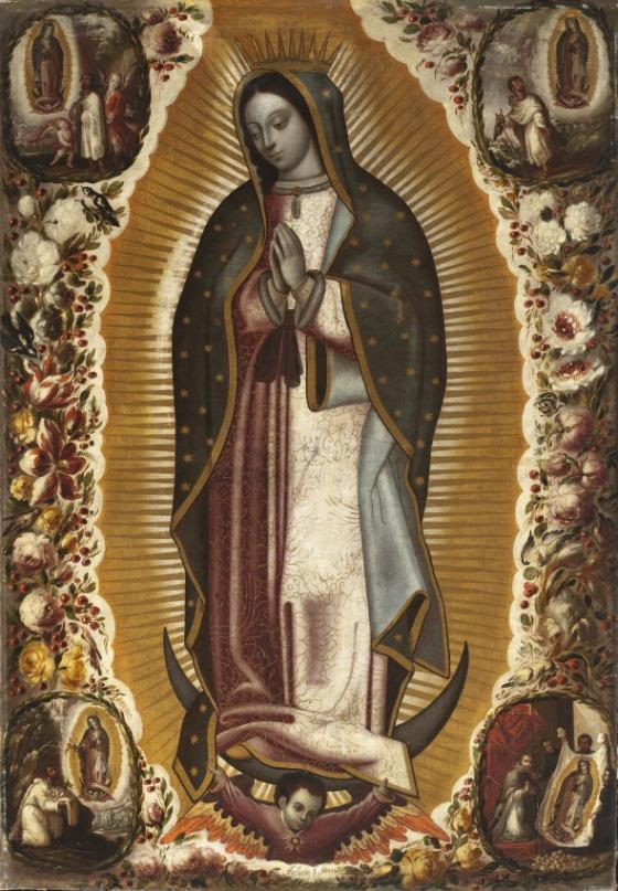 From the collection virgin of guadalupe la virgen de guadalupe unframed - Images of la virgen de guadalupe ...