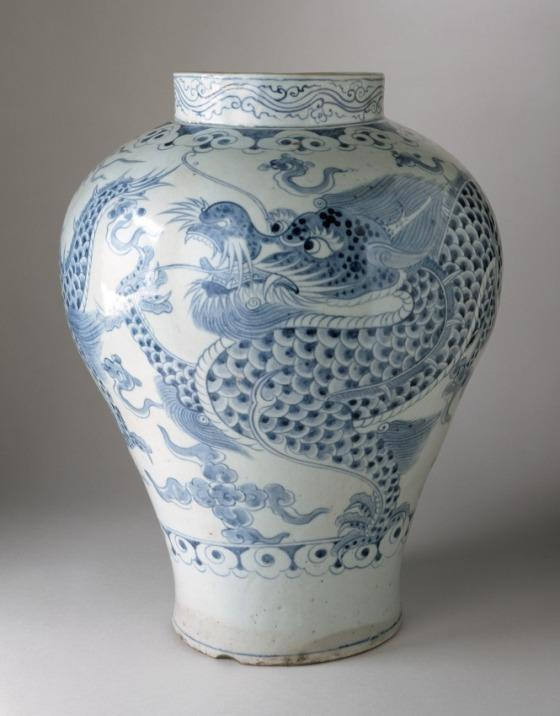 From The Collection Jar With Dragon In Clouds Design