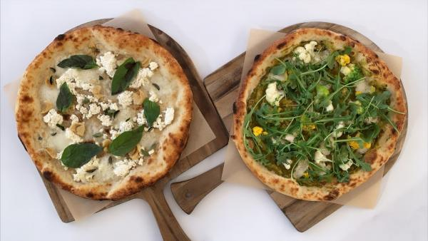 Pizzas from Ray's and Stark Bar