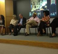 Collectors from left to right: Jesse Williams, Aryn Drake-Lee, Linda Gotskind, Paul Gotskind, Lyndon Barrois, Janine Barrois, Halima Taha