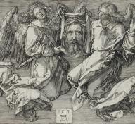 Albrecht Dürer, The Sudarium, Displayed by Two Angels, 1513