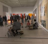 LACMA members and performers during dublab's Close Quarters event in Rauschenberg: The 1/4 Mile, May 11, 2019