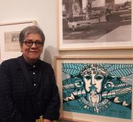Judithe Hernández at Found in Translation: Design in California and Mexico, 1915–1985, LACMA, September 13, 2017