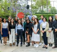 LACMA director and Wallis Annenberg CEO Michael Govan with the 2019 Mellon Summer Academy participants, photo © Museum Associates/LACMA