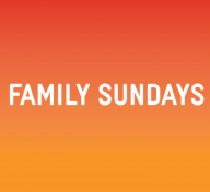 """Graphic reading """"Andell Family Sundays Anytime"""""""