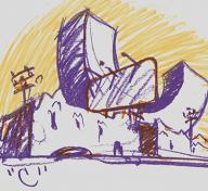 Claes Oldenburg, Untitled (City as Alphabet)