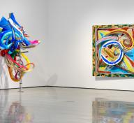 Installation photograph, Frank Stella: Selections from the Permanent Collection, Los Angeles County Museum of Art