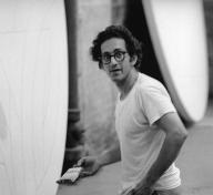Frank Stella in his New York studio, 1969
