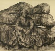 Charles White, General Moses (Harriet Tubman), 1965, private collection, © The Charles White Archives, photo courtesy of Swann Auction Galleries