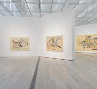 Installation photograph, Julie Mehretu, Los Angeles County Museum of Art