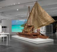 Installation photograph, Fiji: Art & Life in the Pacific, Los Angeles County Museum of Art, December 15, 2019–July 19, 2020, photo © Museum Associates/LACMA