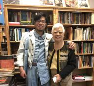 LACMA-ASU Fellow Matthew Villar Miranda with Linda Nietes of Pinta Dos Gallery and Philippines Expressions Bookshop