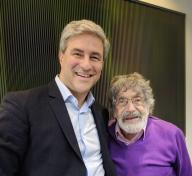 Michael Govan and Carlos Cruz-Diez