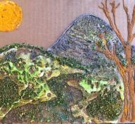 Artwork from teaching artist Hadley Holliday's workshop during September Andell Family Sundays.