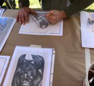 Artist Sofia Mas's workshop at Andell Family Sundays