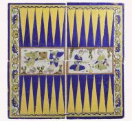 Four Tiles Forming a Backgammon Board