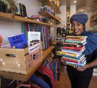 Asha Grant, Director of the Free Black Women's Library - LA, image credit: Mel Melcon LA Times