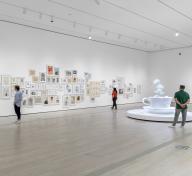 Installation photograph, Yoshitomo Nara, Los Angeles County Museum of Art, 2020–21, art © Yoshitomo Nara, photo © Museum Associates/LACMA