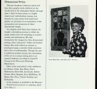 Betye Saar in the April 1973 issue of LACMA's member calendar, photo © Museum Associates/LACMA