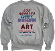 LACMA Hand Painted Sign Champion Reverse Weave Sweatshirt, photo © Museum Associates/LACMA