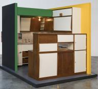 Charlotte Perriand, Le Corbusier, building architect, Kitchen for an apartment in Le Corbusier's Unité d'Habitation, designed 1948–50, made c. 1952