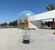 Lightbulb sculpture