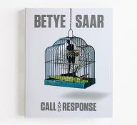 The cover of Betye Saar: Call and Response featuring The Edge of Ethics, 2010, photo courtesy of David Karwan