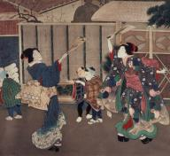 Tsukioka Yoshitoshi, January: Celebrating the New Year, 1860s, Los Angeles County Museum of Art, Herbert R. Cole Collection, photo © Museum Associates/LACMA