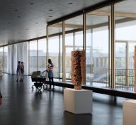 rendering of LACMA's David Geffen Galleries, Atelier Peter Zumthor & Partner/Boundary